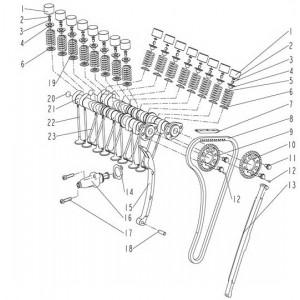 Запчасти газораспределительного механизма мотоцикла Stels 600 Benelli