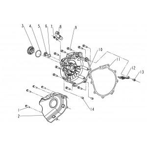 Запчасти крышки магнето мотоцикла Stels 600 Benelli