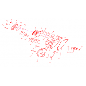 Крышка картера двигателя левая